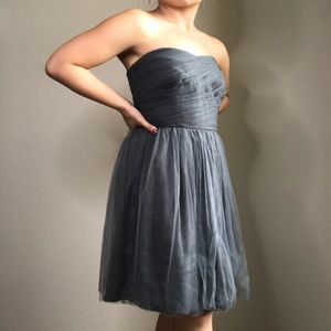 J. Crew Tulle Ruched Strapless dress